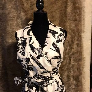 Semi formal/formal black & white cocktail dress